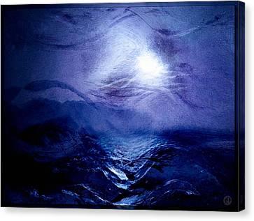 Diving Into The Blue Canvas Print by Gun Legler