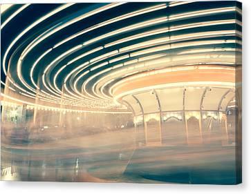 Dizzy Lights Canvas Print by Elyssa Drivas