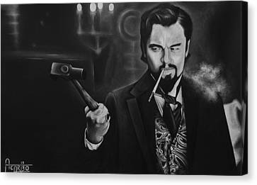 Django Unchained  Leonardo Dicaprio Canvas Print by Andres Carbo