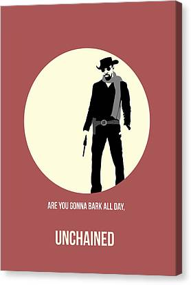 Django Unchained Poster 2 Canvas Print by Naxart Studio
