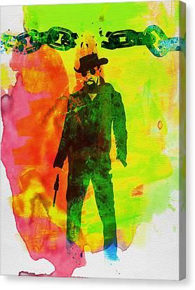 Django Unchained Watercolor Canvas Print by Naxart Studio
