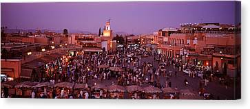 Djemma El Fina, Marrakech, Morocco Canvas Print by Panoramic Images