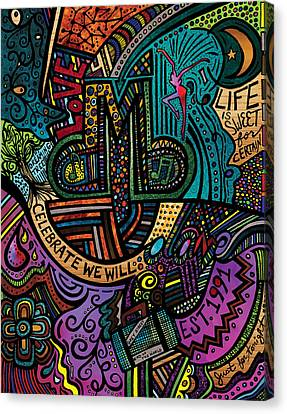Dmb Love Canvas Print by Kelly Maddern