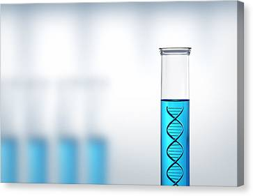 Dna Research Or Testing In A Laboratory Canvas Print by Johan Swanepoel