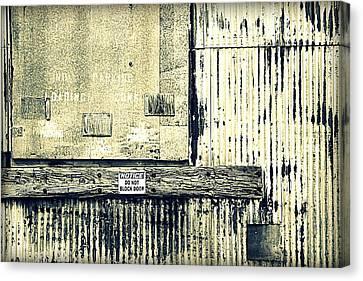 Do Not Block Door Canvas Print by Valentino Visentini