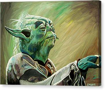 Do Or Do Not    There Is No Try Canvas Print by Jeremy Moore