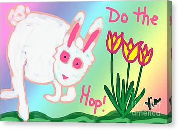 Do The Hop Canvas Print by Judy Via-Wolff