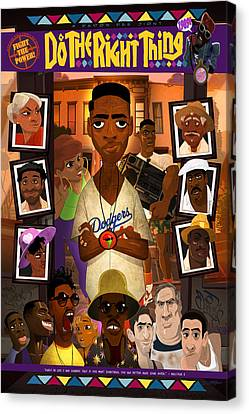 Do The Right Thing Canvas Print by Nelson Dedos Garcia