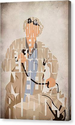 Doc. Brown Canvas Print by Ayse Deniz