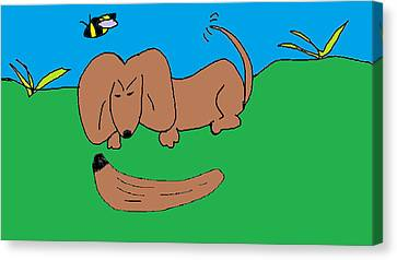 Doc The Dachshund  Canvas Print by Othen Cummings