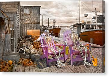 Dock Buddies Canvas Print by Betsy Knapp