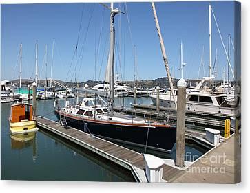 Docks At Sausalito California 5d22688 Canvas Print by Wingsdomain Art and Photography