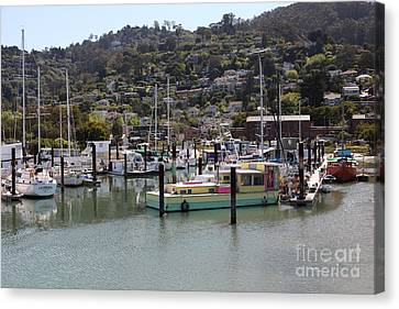 Docks At Sausalito California 5d22697 Canvas Print by Wingsdomain Art and Photography