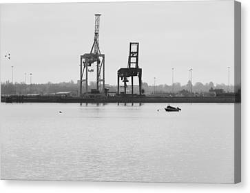 Docks Canvas Print by Svetlana Sewell
