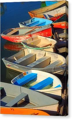 Dockside Parking Canvas Print by Joann Vitali