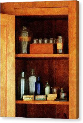 Doctor - Medicine Chest With Asthma Medication Canvas Print by Susan Savad
