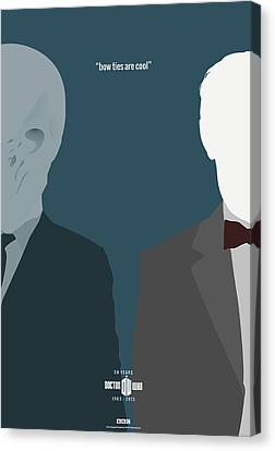 Doctor Who 50th Anniversary Poster Set Eleventh Doctor Canvas Print by Jeff Bell