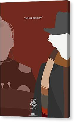 Doctor Who 50th Anniversary Poster Set Fourth Doctor Canvas Print by Jeff Bell