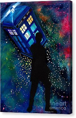 Doctor Who Am I A Good Man Canvas Print by Jennifer Pavia