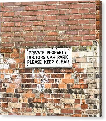Doctors' Car Park Canvas Print by Tom Gowanlock