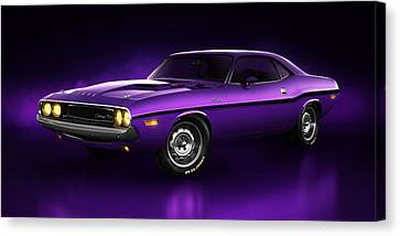 Dodge Challenger Hemi - Shadow Canvas Print by Marc Orphanos