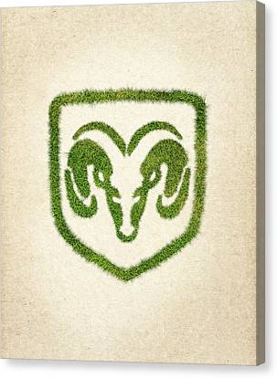 Dodge Grass Logo Canvas Print by Aged Pixel