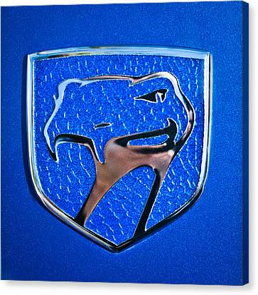 Dodge Viper Emblem -217c Canvas Print by Jill Reger