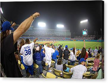 Dodger Stadium 3 Canvas Print by Micah May