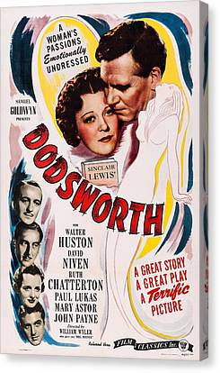 Dodsworth, Us Poster, Top From Left Canvas Print by Everett
