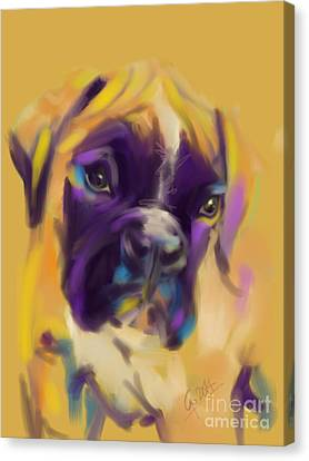 Dog Boxer Bobby Canvas Print by Go Van Kampen