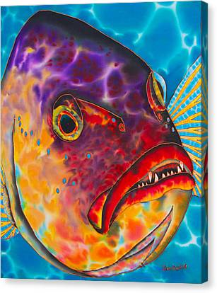 Dog Tooth  Snapper Canvas Print by Daniel Jean-Baptiste