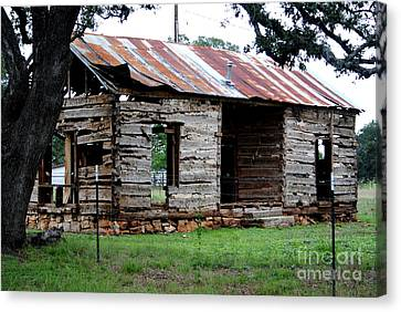 Dog Trot Cabin Canvas Print by Paul Wesson