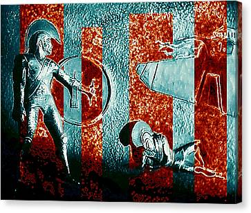 Dogs Of War At Troy Canvas Print by Hartmut Jager