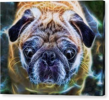 Dogs - The Psychedelic Fantasy Pug Canvas Print by Lee Dos Santos