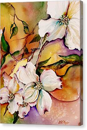 Dogwood In Spring Colors Canvas Print by Lil Taylor