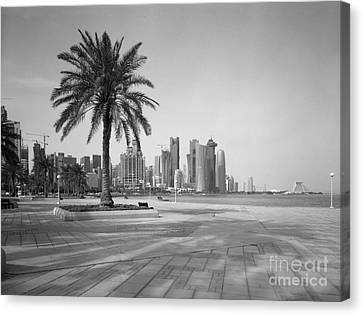 Doha Corniche April 2013 Canvas Print by Paul Cowan