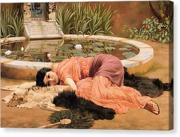 Dolce Far Niente Or Sweet Nothings 1904 Canvas Print by Philip Ralley