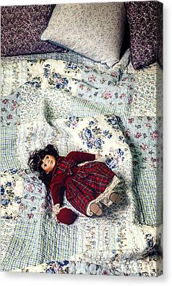 Doll On Bed Canvas Print by Joana Kruse