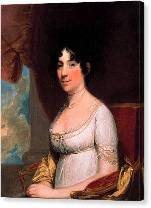 Dolley Payne Madison Canvas Print by Gilbert Stuart