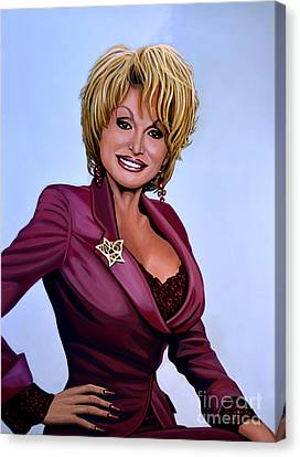 Dolly Parton Canvas Print by Paul Meijering