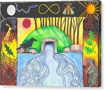 Dolmen Gateway Canvas Print by Cat Athena Louise