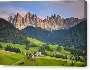 Dolomites From Val Di Funes Canvas Print by Brian Jannsen