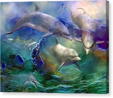 Dolphin Dream Canvas Print by Carol Cavalaris