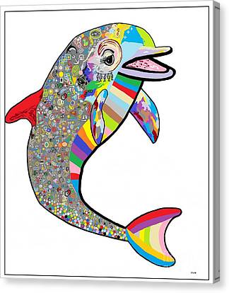 Dolphin - The Devil's In The Details Canvas Print by Eloise Schneider