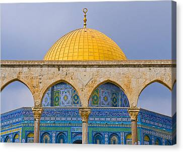 Dome Of The Rock Canvas Print by Kobby Dagan