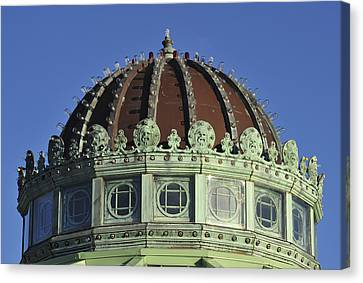 Dome Top Of Carousel House Asbury Park Nj Canvas Print by Terry DeLuco