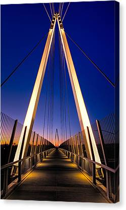 Don Burnett Pedestrian And Bicycle Bridge Canvas Print by Alexis Birkill