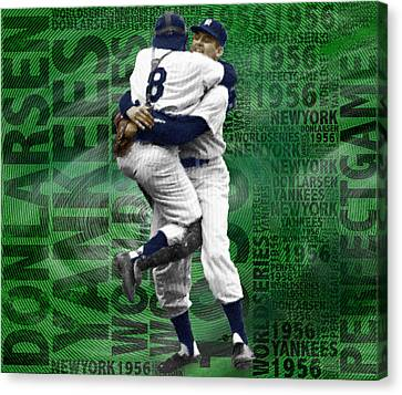 Don Larsen Yankees Perfect Game 1956 World Series  Canvas Print by Tony Rubino