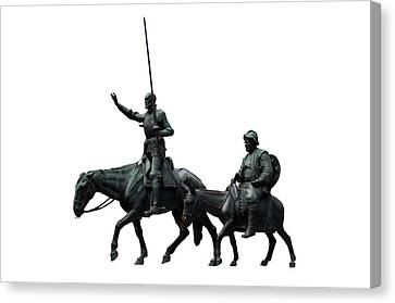 Don Quixote And Sancho Panza  Canvas Print by Fabrizio Troiani