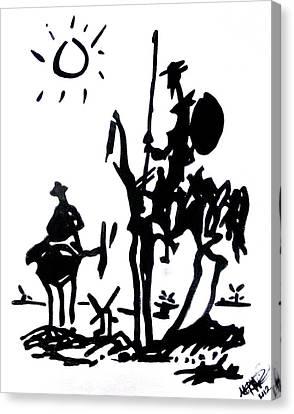 Don Quixote Canvas Print by Michelle Dallocchio